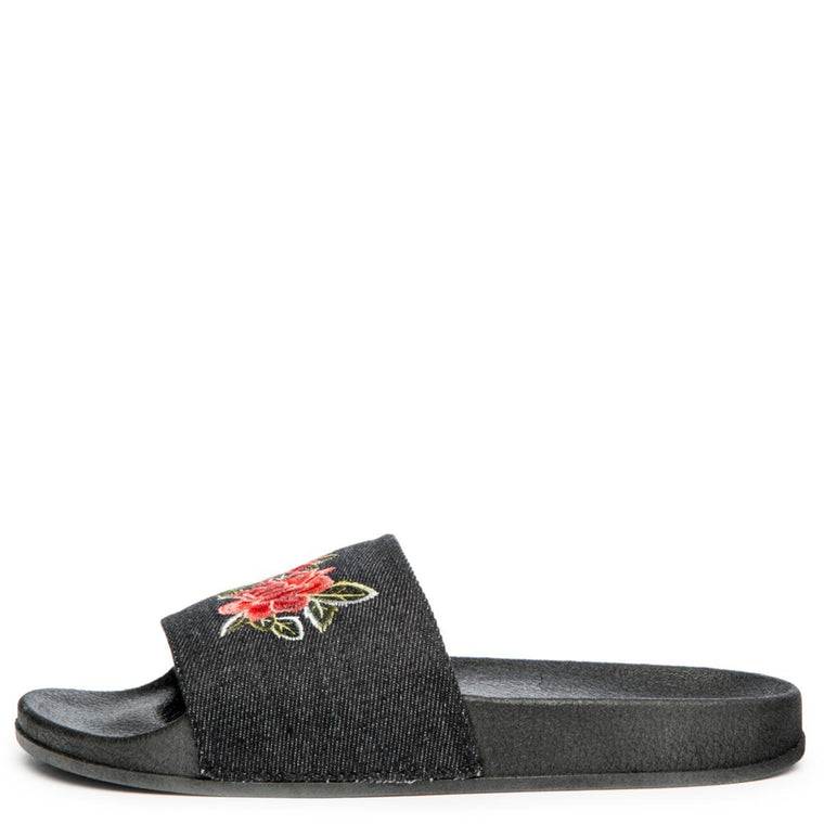 Cape Robbin Moira-59 Women's Black Slides