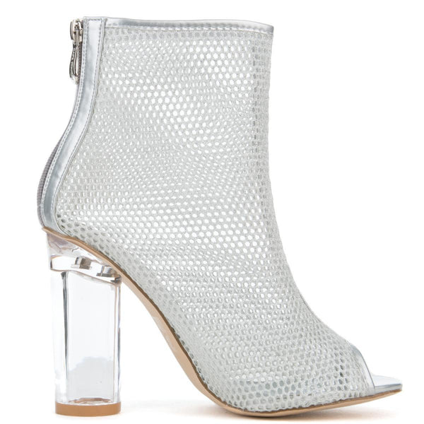 Cape Robbin Benny-11 Women's Silver Booties