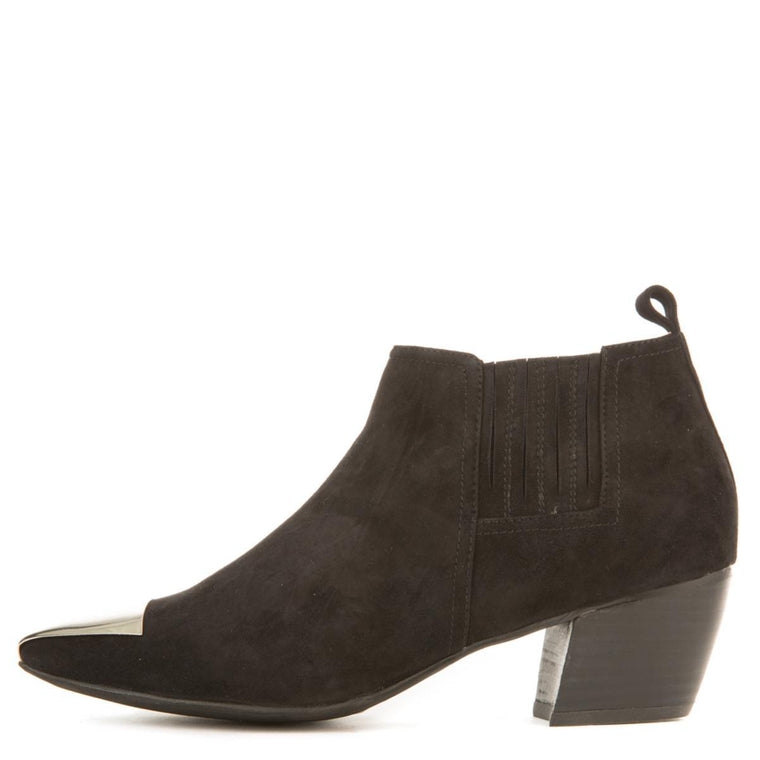 Jeffrey Campbell for Women: Jude Black Suede Heeled Booties