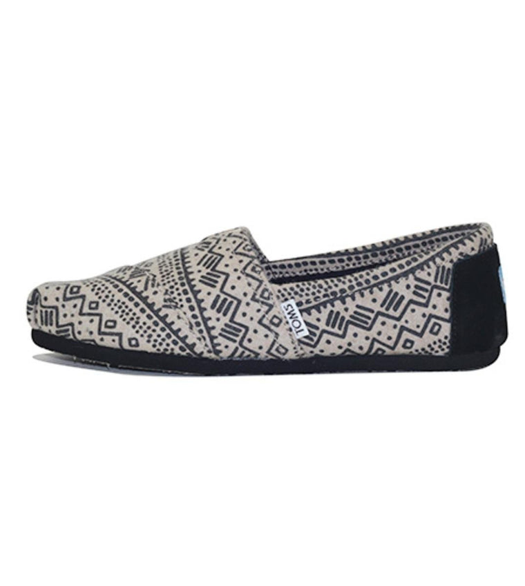 Toms for Women: Classic Black Taupe Printed Wool