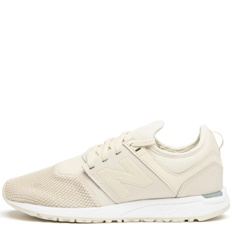 New Balance Women's 247 Classic Bone with White Sneakers