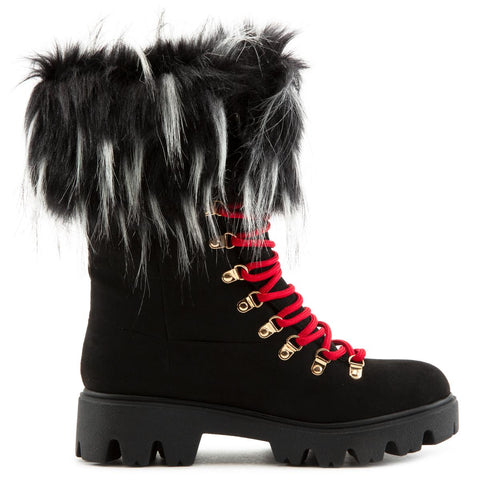 Force-11 Lace-Up Fur Boots