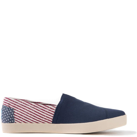 Toms for Men: Avalon Americana Canvas Flag Slip-Ons
