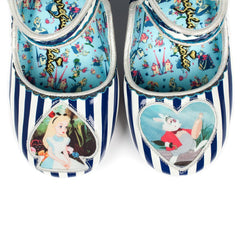 Irregular Choice Alice in Wonderland Collection: Tick Tock Blue Heels