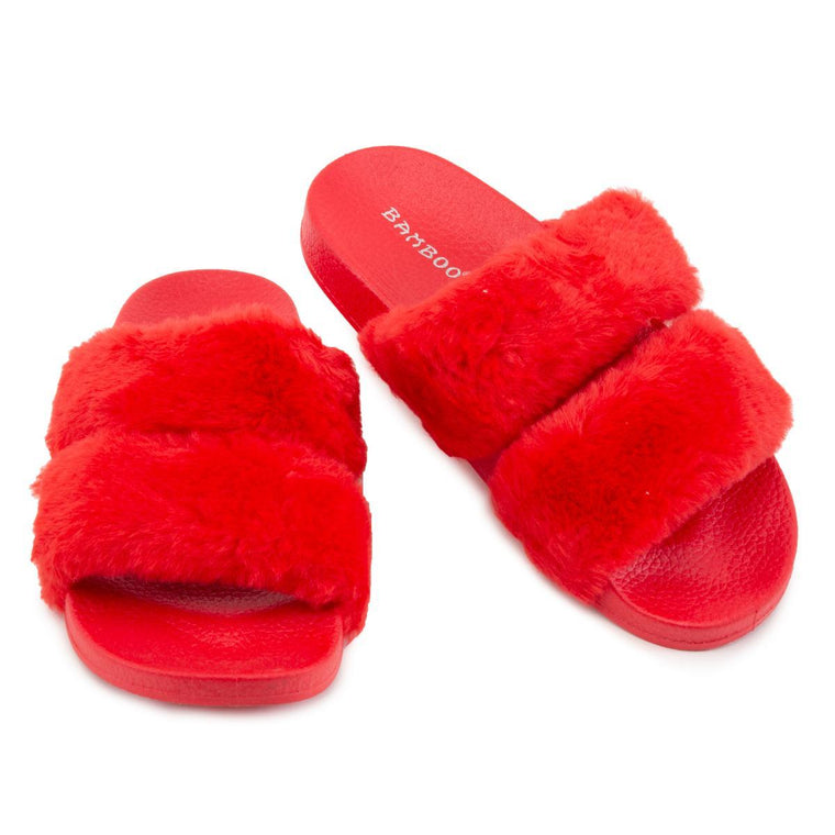 Liv-04 Two Band Fur Slides