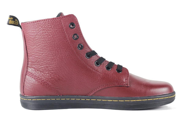 Dr. Martens for Women: Leyton Game on Oxblood Boot