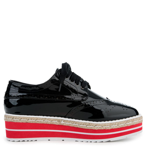Cape Robbin Roxy-1 Women's Black Platform Sneakers