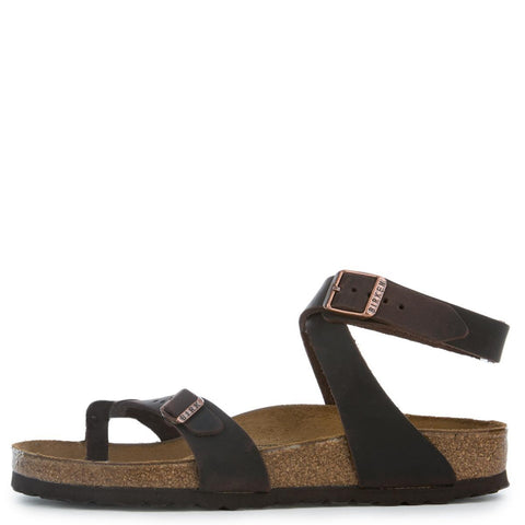 Birkenstock for Women: Yara Waxy Leather Habana Sandal