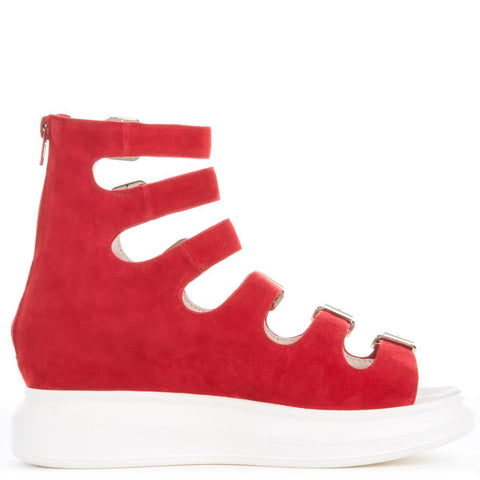 Jeffrey Campbell for Women: Andante Red Suede Platform