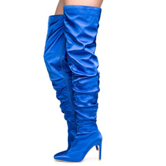 Cape Robbin Kitana-6 Women's Royal Blue High heel Boots