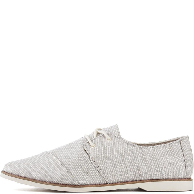 Toms for Men: Hensley Light Grey Pinstripe Oxfords