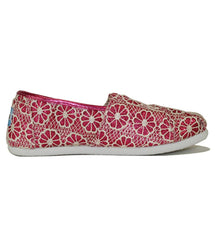 Toms for Kids: Classic Pink Crochet Glitter