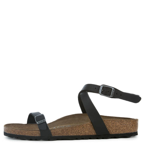 Birkenstock for Women: Daloa Birko-Flor Black Sandals