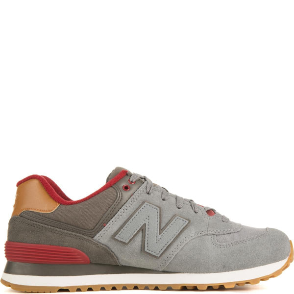 new products 9a50c 305ac New Balance for Men: 574 Collegiate Gunmetal with Raven & Red Sneakers