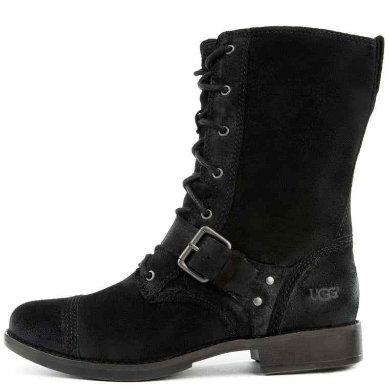 UGG Australia for Men: Marela Black Suede Lace Up Boot