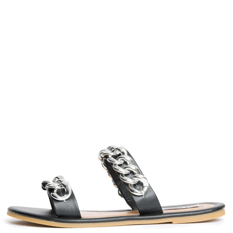 Cape Robbin Leela-8 Women's Black Sandals