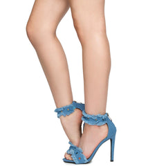 Cape Robbin Alza-41 Women's Denim High Heels