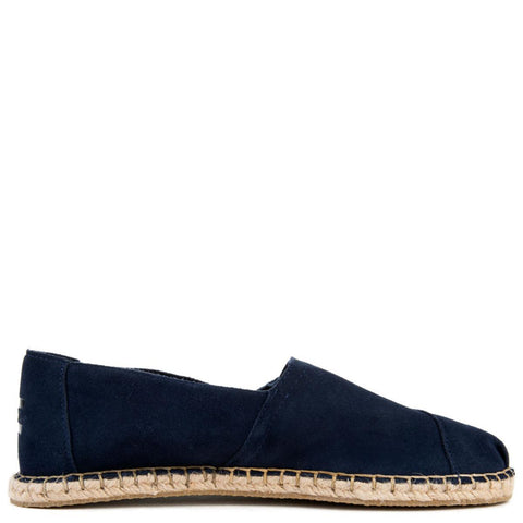 Classic in Navy Suede/Blanket Stitch