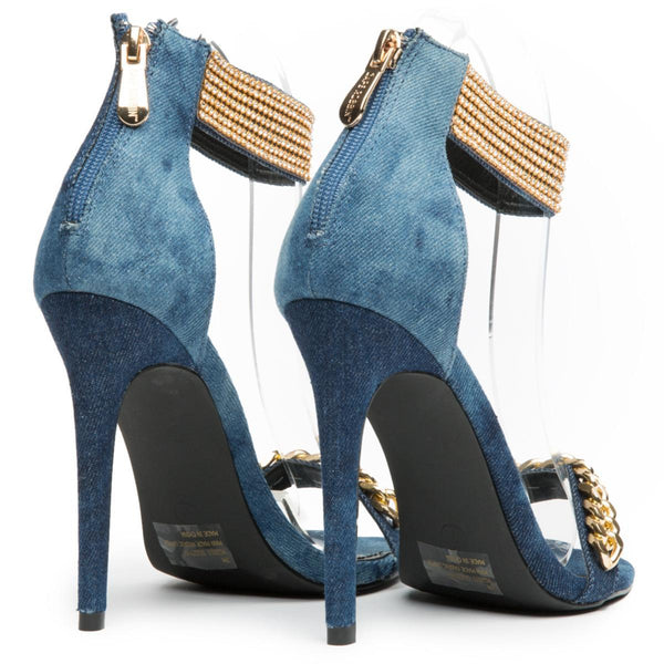 Cape Robbin Suzzy-87 Denim Women's High Heel