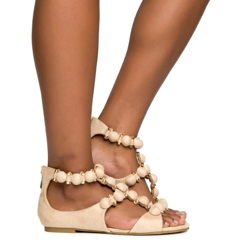 Cape Robbin Sandal-11 Women's Nude Sandals