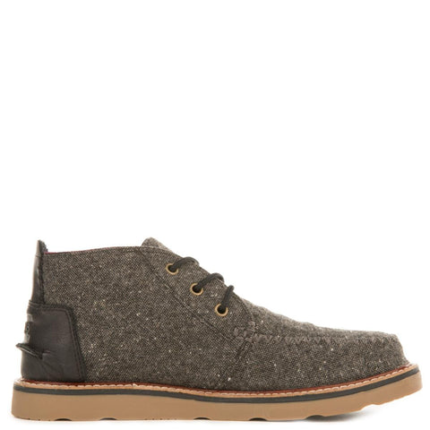 Toms for Men: Chukka Charcoal Fleck Boots