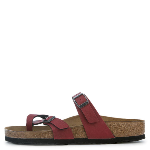 Birkenstock Mayari Birko-Flor Regular Women's Pull Up Bordeaux Sandals