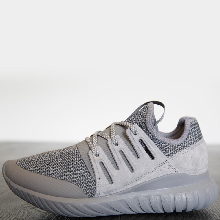 adidas Unisex: Tubular Radial Charcoal Solid Grey/Charcoal Solid Grey/ Vintage White Sneakers