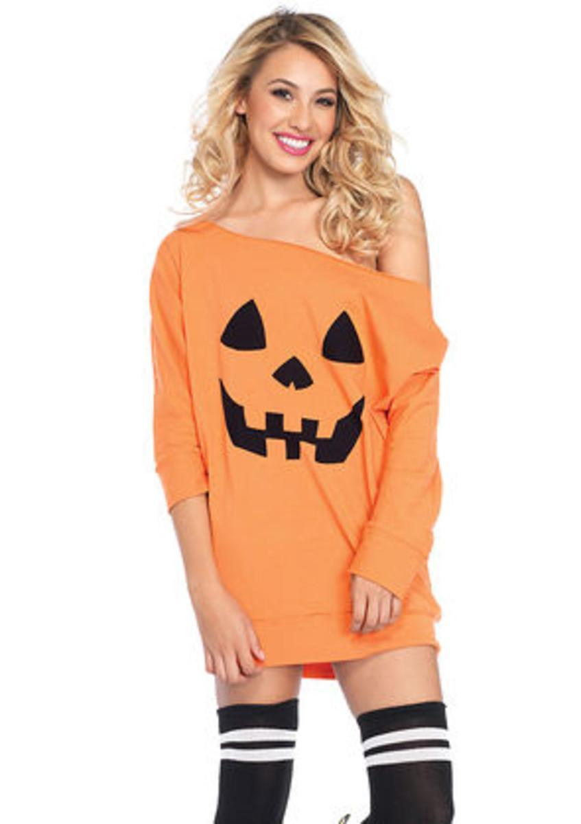 Jersey pumpkin dress in ORANGE