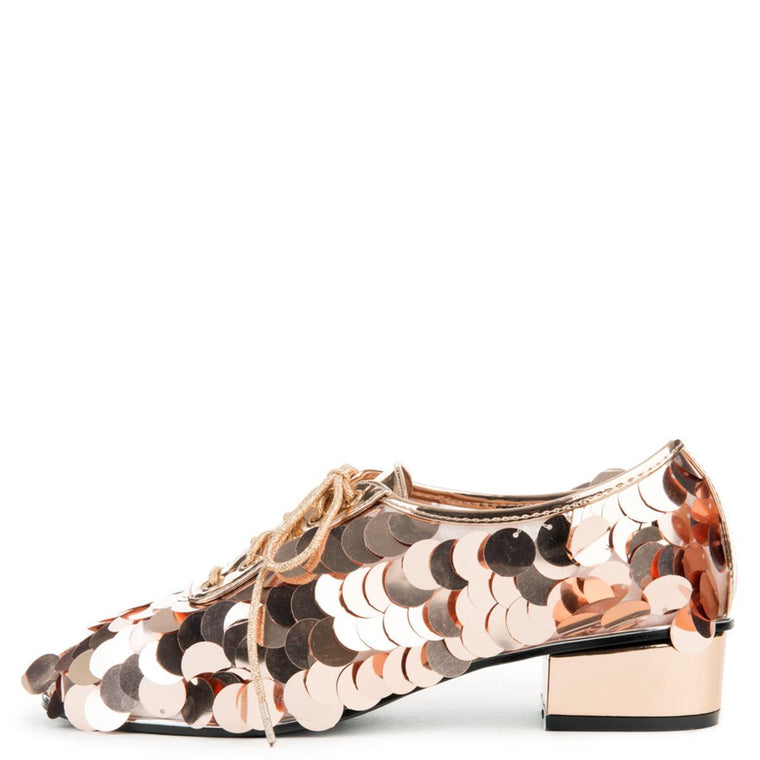 Cape Robbin Michonne-1 Women's Rose Gold Oxfords