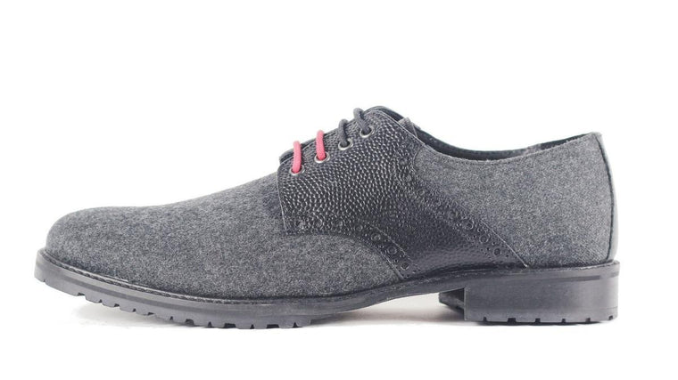 Ben Sherman for Men: Parsons Wool Grey Black Oxford Oxford