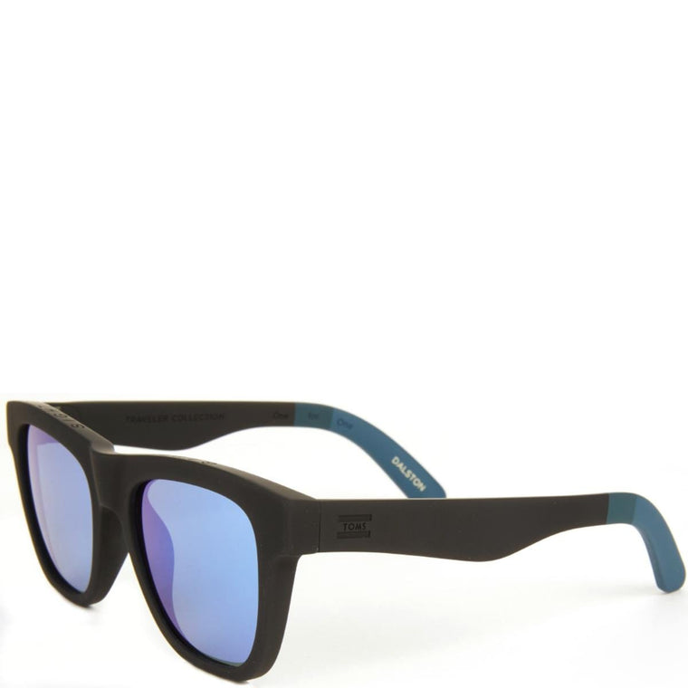 Toms: Traveler Dalston Matte Black Mirrors Sunglasses
