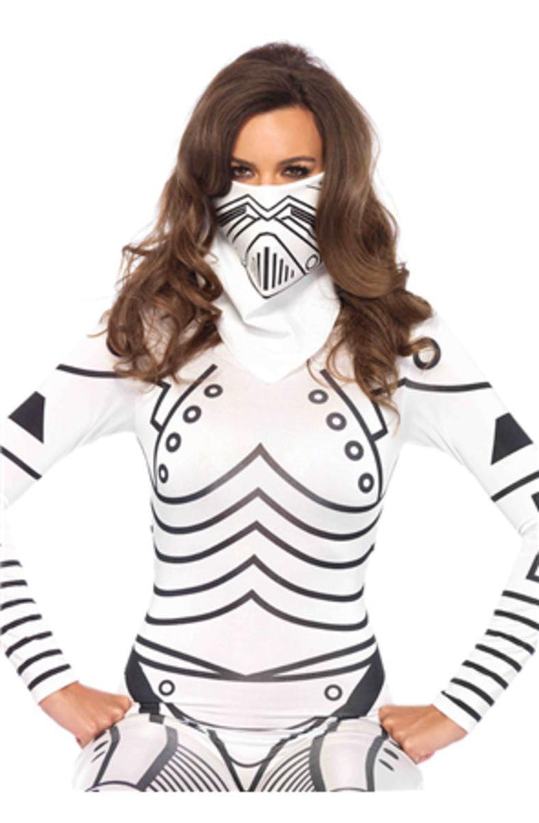 Evil robot bandana in WHITE/BLACK