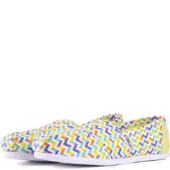 Toms for Women: Classic Multi Canvas Chevron Flats