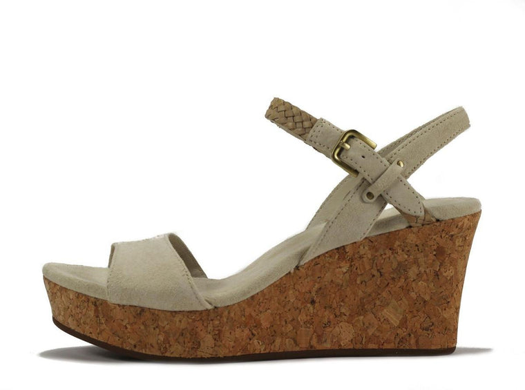 UGG Australia for Women: Dalessio Cream Wedge Sandal