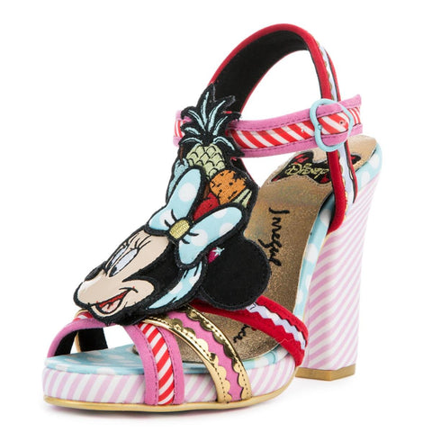 Irregular Choice Mickey Mouse & Friends Collection Women's Tropical Minnie Pink Heels
