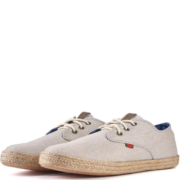 Ben Sherman for Men: Prill Lace Up White Linen Oxfords