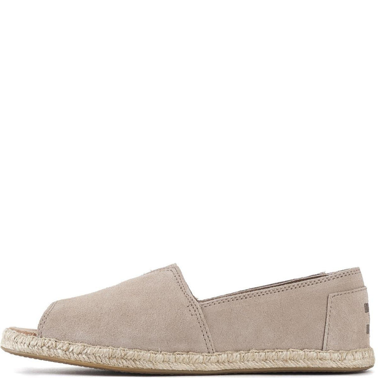 Toms for Women: Stucco Open Toe Alpargatas Flats