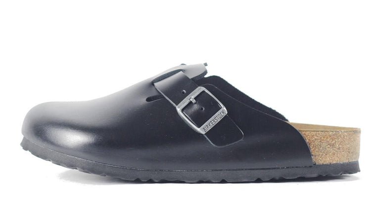 Birkentstock for Men: Boston SFB Black Amalfi Sandal