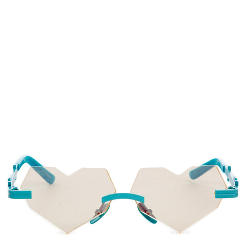 Esqape Be Heart Teal Sunglasses