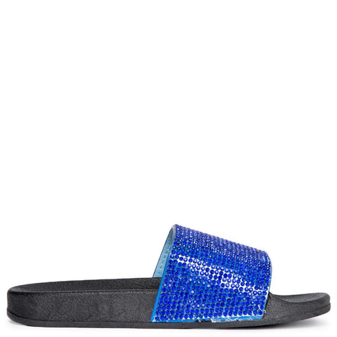 Cape Robbin Moira-67 Women's Royal Blue Slides