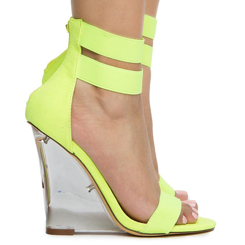 Women's Wedge Clear Heel