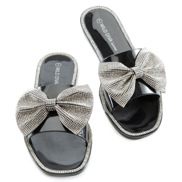 Jacelyn-05 Bow Flat Sandals