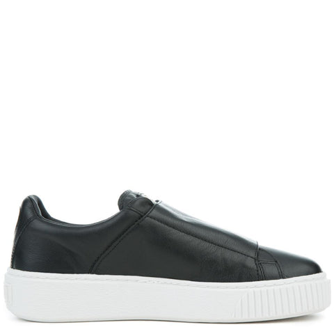 Puma Basket Platform Big Strap Women's Black Sneaker