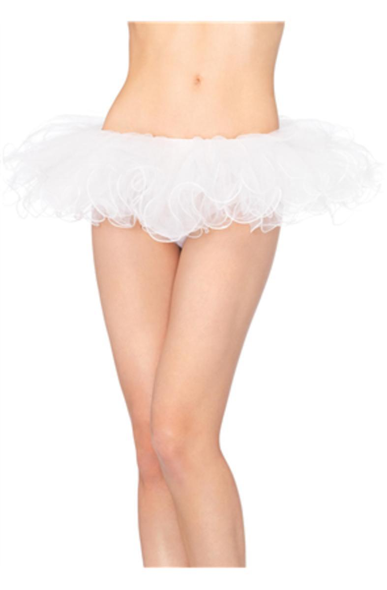 Tulle tutu with swirl edge finish in WHITE