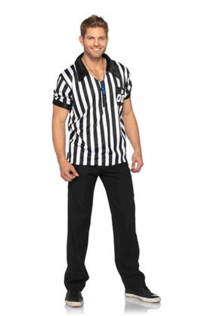 2Pc. Men'S Referee Shirts W/ Whistle