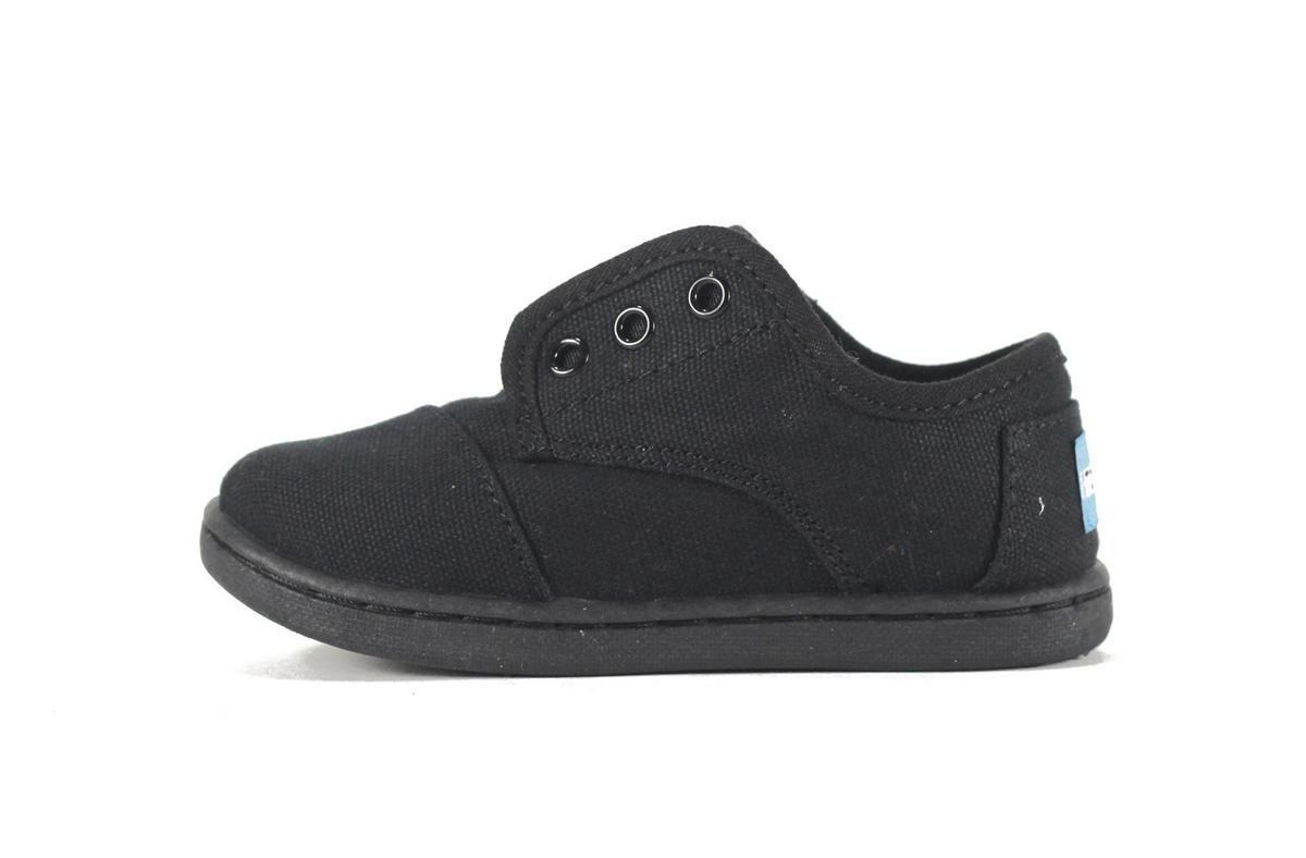 Tiny Toms Paseo Black Black Canvas