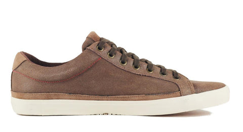Seven for All Mankind for Men: Calvin Dark Brown Suede Sneaker