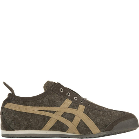 Onitsuka Tiger for Men: Mexico 66 Mid Brown/Light Brown Slip-On Sneakers