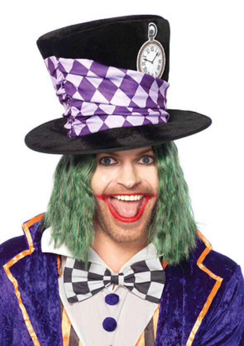 Oversized Mad Hatter top hat in MULTICOLOR