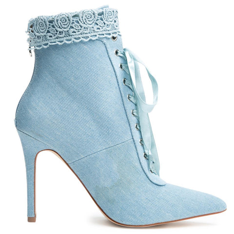 Cape Robbin Mini-3 Denim Women's Bootie